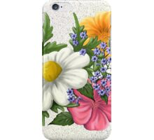 Flower synthesis iPhone Case/Skin