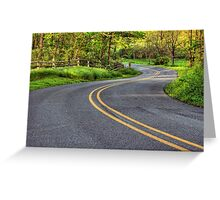 Winding Country Road Greeting Card