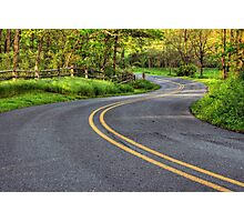 Winding Country Road Photographic Print