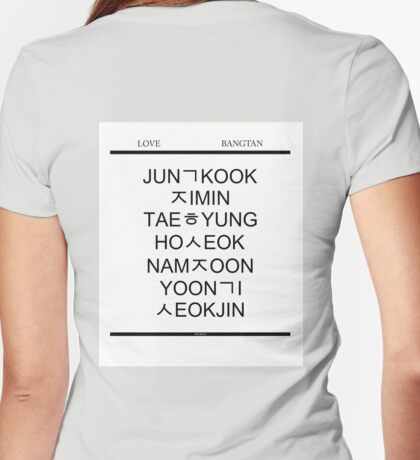 BTS Hangul Time! Womens Fitted T-Shirt