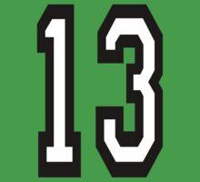 13, TEAM SPORTS, NUMBER 13, THIRTEEN, THIRTEENTH, ONE, THREE, Competition, Unlucky, Luck Kids Tee