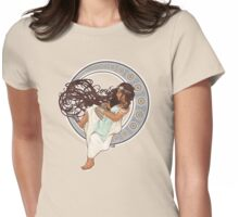 Steampunk Mucha Girl Womens Fitted T-Shirt