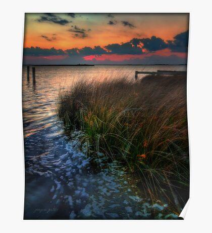 Sunset Currituck Sound Poster