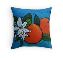 Orange Blossoms Throw Pillow