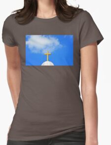 Sunday Morning - Cross Photography by Sharon Cummings Womens Fitted T-Shirt