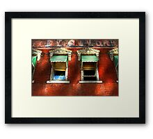 """Awnings "" Framed Print"