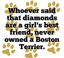 Boston Terriers Are A Girl's Best Friend by GiftIdea