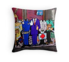 Empty Suits Throw Pillow