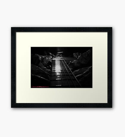 Down the Plank. Framed Print