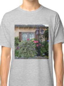 Window and Pink Hydrangea Flowers Classic T-Shirt