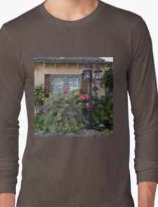 Window and Pink Hydrangea Flowers Long Sleeve T-Shirt