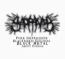 SAD PANDA STICKER - Pure Depressive Blackened Suicidal Black Metal... by IWML