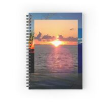 Sunset at Anclote Park, Holiday, FL Spiral Notebook