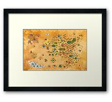 Pokemon Mystery Dungeon II/III - Map Framed Print