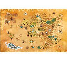 Pokemon Mystery Dungeon II/III - Map Photographic Print