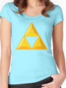 Triforce Gemstone Design Women's Fitted Scoop T-Shirt