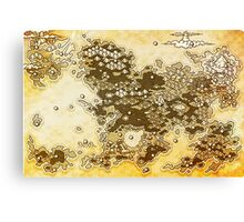 Pokemon Mystery Dungeon - Map Canvas Print