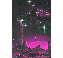 Purple Planet Photographic Print