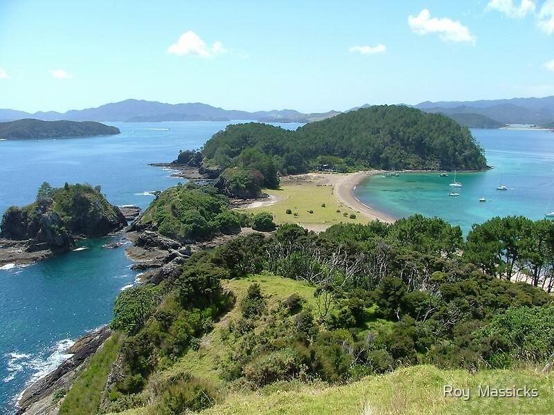 2nd Roberton Island, Bay of Islands  NZ by Roy  Massicks