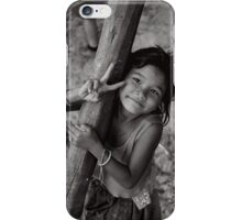 Little girl in cambodia iPhone Case/Skin
