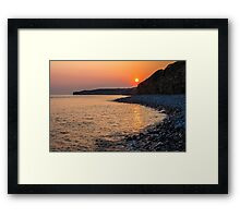 Sunset Special down at Llantwit Major Beach, Wales, UK Framed Print
