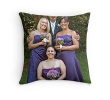 The Groom & his Girl's Throw Pillow