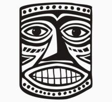 Tiki Mask II - Black by Artberry