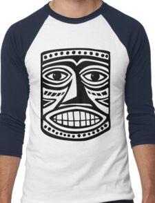 Tiki Mask II - Black Men's Baseball ¾ T-Shirt