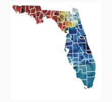 Florida - Map By Counties Sharon Cummings Art Baby Tee