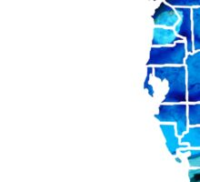 Florida - Map By Counties Sharon Cummings Art Sticker