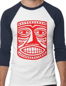 Tiki Mask II - Red Men's Baseball ¾ T-Shirt
