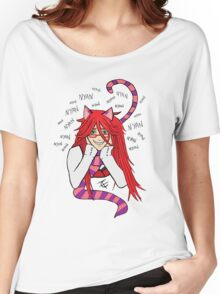 Grell Cheshire Cat - Black Butler Fan Art Women's Relaxed Fit T-Shirt