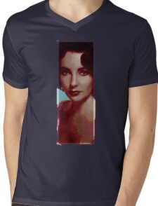 icon t - liz taylor Mens V-Neck T-Shirt