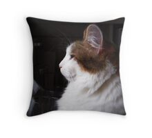 Gracie in Profile Throw Pillow