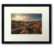 Willow Cliffs Wide Framed Print