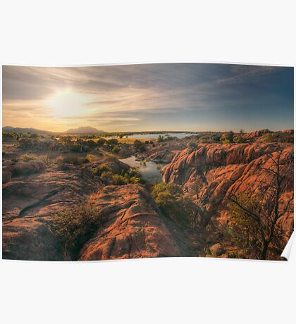 Willow Cliffs Wide Poster