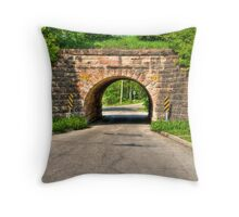 Lakeview Park Tunnel Throw Pillow