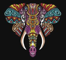 Mosaic Elephant: Rainbow Beast T-Shirt