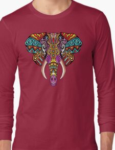Mosaic Elephant: Rainbow Beast Long Sleeve T-Shirt