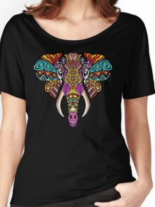 Mosaic Elephant: Rainbow Beast Women's Relaxed Fit T-Shirt