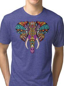 Mosaic Elephant: Rainbow Beast Tri-blend T-Shirt