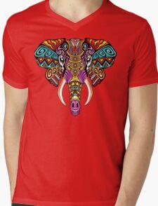 Mosaic Elephant: Rainbow Beast Mens V-Neck T-Shirt