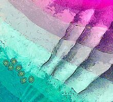 """Abstract art """"Purple and turquoise"""" by floraaplus"""