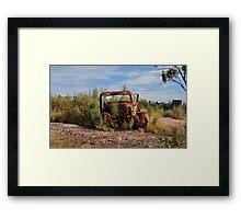 Rusted History - Lightning Ridge NSW Australia Framed Print
