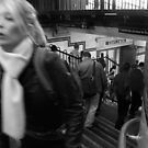 People on Stairs 2 by Andrew  Makowiecki