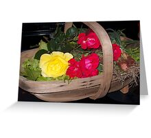 Roses and Vegetables Greeting Card