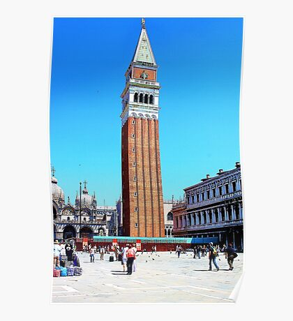 clock tower in venice Poster