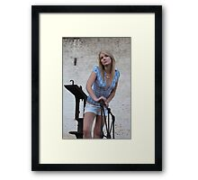 On the scale dreaming Framed Print