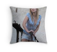 On the scale dreaming Throw Pillow