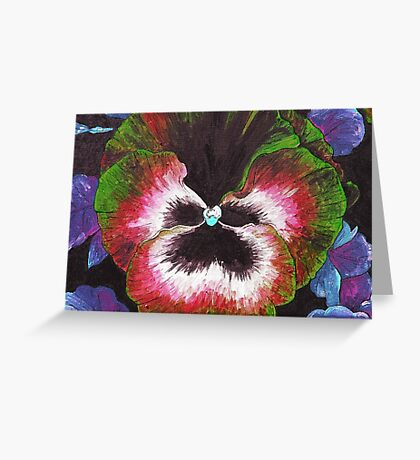 Technicolour Pansy Greeting Card